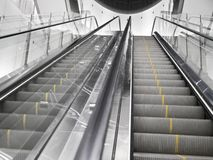 Empty escalator stairs Stock Photography