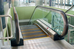 Empty escalator stairs in train station.  Stock Photography
