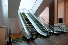 Empty escalator steps Royalty Free Stock Photo