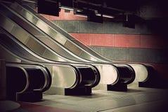 Empty escalators stock images
