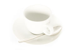 Empty espresso cup on white Stock Photography
