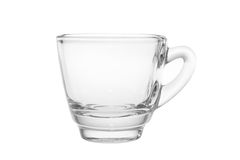 Empty Espresso shot Glass Royalty Free Stock Photography