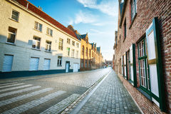 An empty European street in the morning Royalty Free Stock Photography