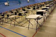 Empty exam hall royalty free stock photos