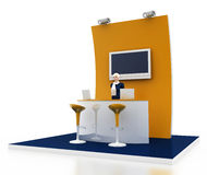 Empty exhibition booth, copy space illustration. 3d rendering Stock Images