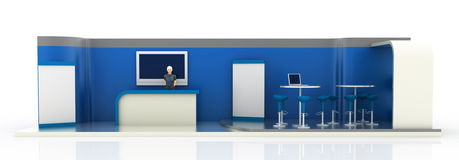 Empty exhibition booth, copy space illustration Royalty Free Stock Image