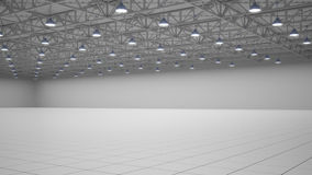 Empty exhibition centre. 3d render. Empty exhibition centre. 3d render Stock Image