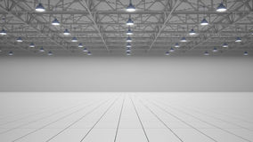 Empty exhibition centre. 3d render. Empty exhibition centre. Front view. 3d render Stock Photo