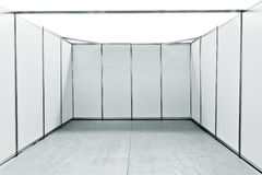 Empty exhibition fair stand space Stock Images