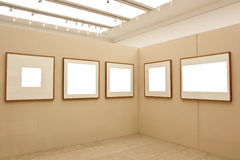 Empty exhibition frames Stock Photo