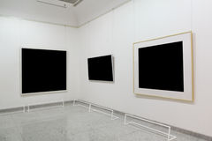 Empty exhibition frames Royalty Free Stock Photos