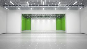 Empty exhibition hall. 3d illustration royalty free stock photos