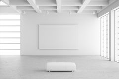 Empty exhibition hall with empty Royalty Free Stock Images