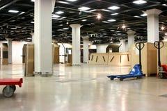 Empty exhibition hall underground Royalty Free Stock Photo