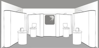 Empty exhibition stand Stock Photos