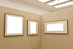 Empty exhibition wall Royalty Free Stock Image