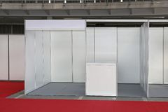 Empty Trade Stand Stock Photography