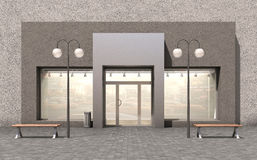 Free Empty Facade Shop For Your Edit Stock Photo - 79286240
