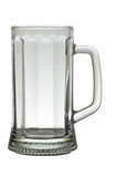 Empty faceted beer mug Royalty Free Stock Image