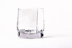 Empty faceted glass Stock Photo