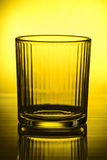 Empty faceted glass Royalty Free Stock Photo