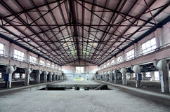 Empty factory. An closeup of old empty factory Royalty Free Stock Photos