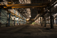 Empty factory in Moscow Royalty Free Stock Photos