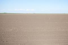Empty farm field Stock Image