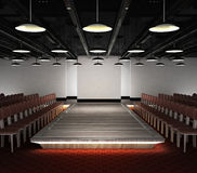 Empty fashion exhibition podium with lighting Stock Photo