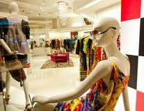 Empty fashion store stock photos