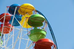 Empty Ferris wheel. In the park solar day royalty free stock image