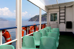 The empty ferry boat Stock Images