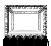 Empty festival stage with spectators isolated on white vector Stock Photo