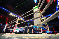 Empty fighting ring. GALATI, ROMANIA - DECEMBER 21: Empty fighting ring at Superkombat World Grand Prix finals, on December 21, Galati Romania stock image