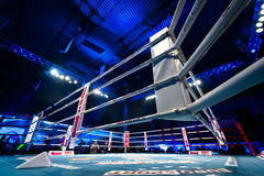 Empty fighting ring. GALATI, ROMANIA - DECEMBER 21: Empty fighting ring at Superkombat World Grand Prix finals, on December 21, Galati Romania stock images