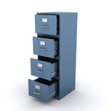 Empty file cabinet Royalty Free Stock Images