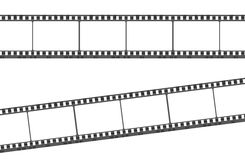 Empty film strip. Illustration of blank film strip on white background Royalty Free Stock Photography