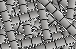 Empty filmstrips background. Illustration in EPS format Stock Image