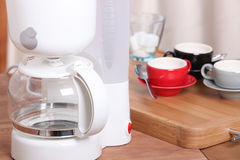 Empty filter coffee machine Royalty Free Stock Images