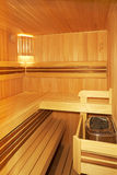 Empty finnish sauna Royalty Free Stock Photos
