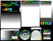 Empty firm forms with colorful abstract lines. Stock Images