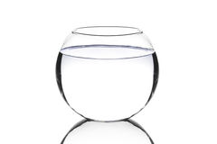 An empty fish bowl Stock Images