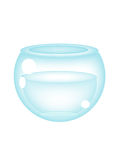 Empty fish bowl. Illustrated empty fish bowl ,isolated Stock Images