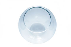 Empty fish bowl, blue color, isolated Stock Images