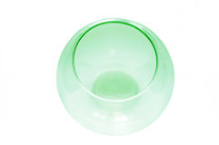 Empty fish bowl, green color, isolated Royalty Free Stock Image