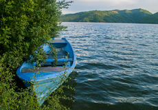 Empty fisherman boat Stock Photography