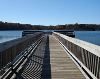 Empty Fishing Dock Stock Photography