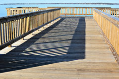 Empty Fishing pier in the afternoon Royalty Free Stock Photo