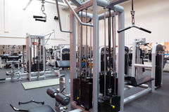 Empty fitness center hall Royalty Free Stock Image