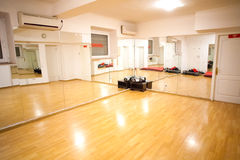 Empty fitness training room Royalty Free Stock Images